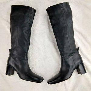 Donald J Pliner Black Leather Knee High Boots
